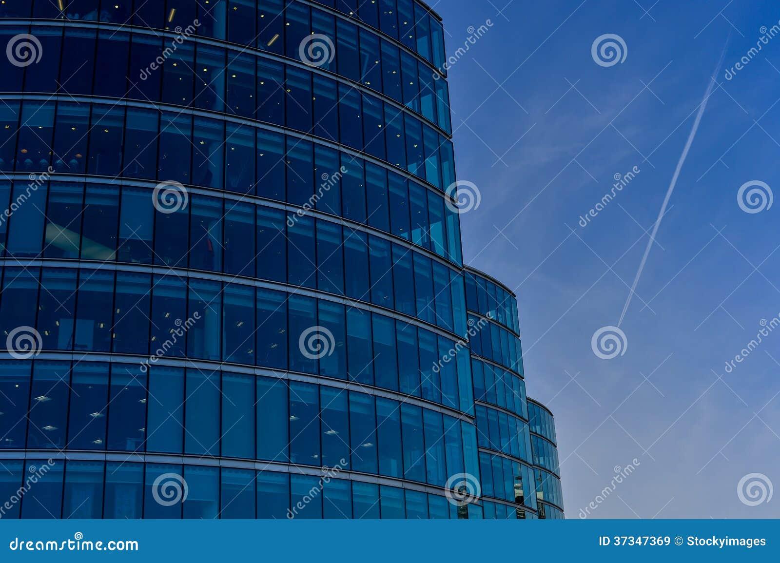 Arquitectura moderna, torres de la oficina