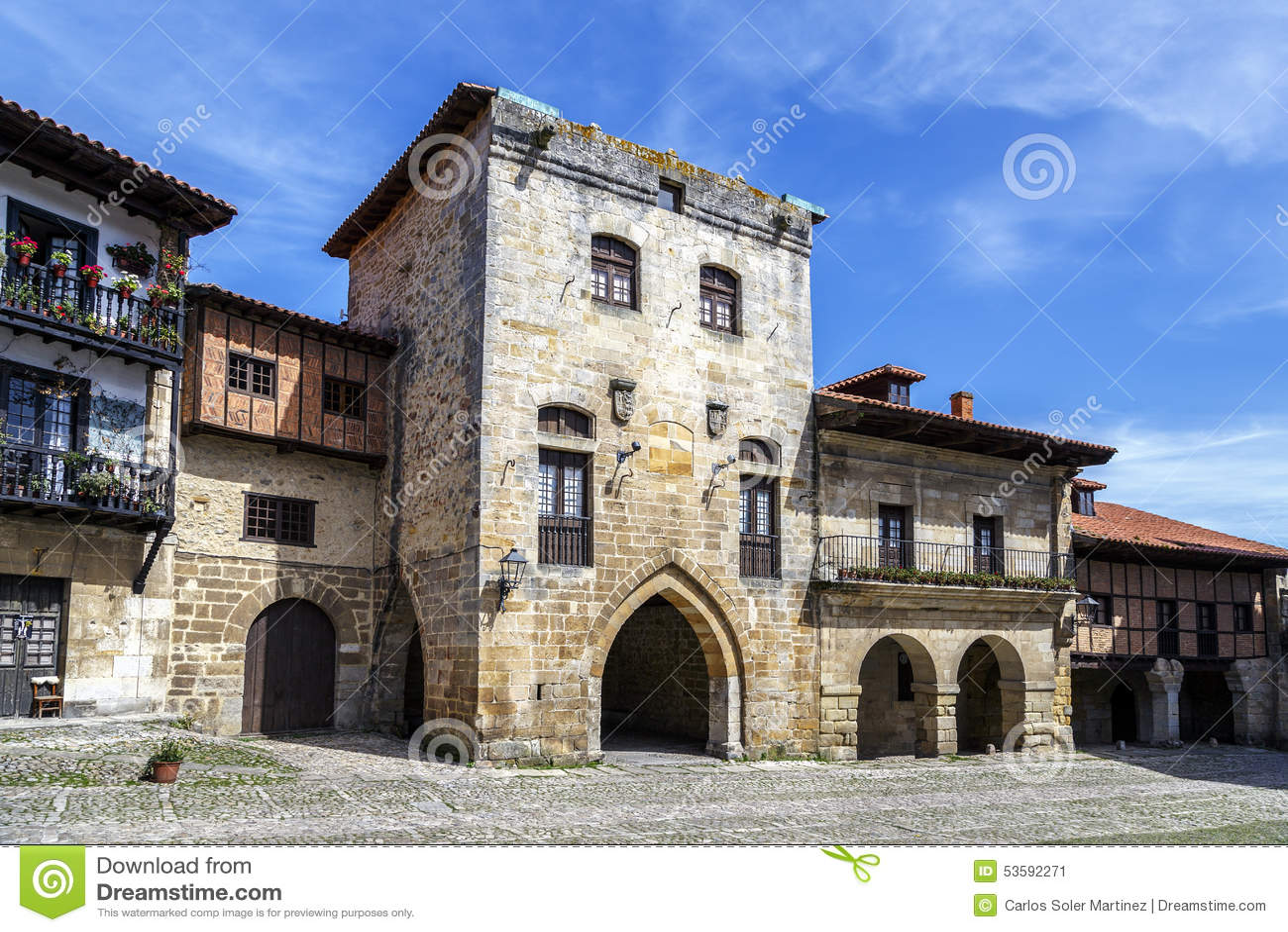 Arquitectura t pica en santillana del mar una ciudad for Arquitectura de espana