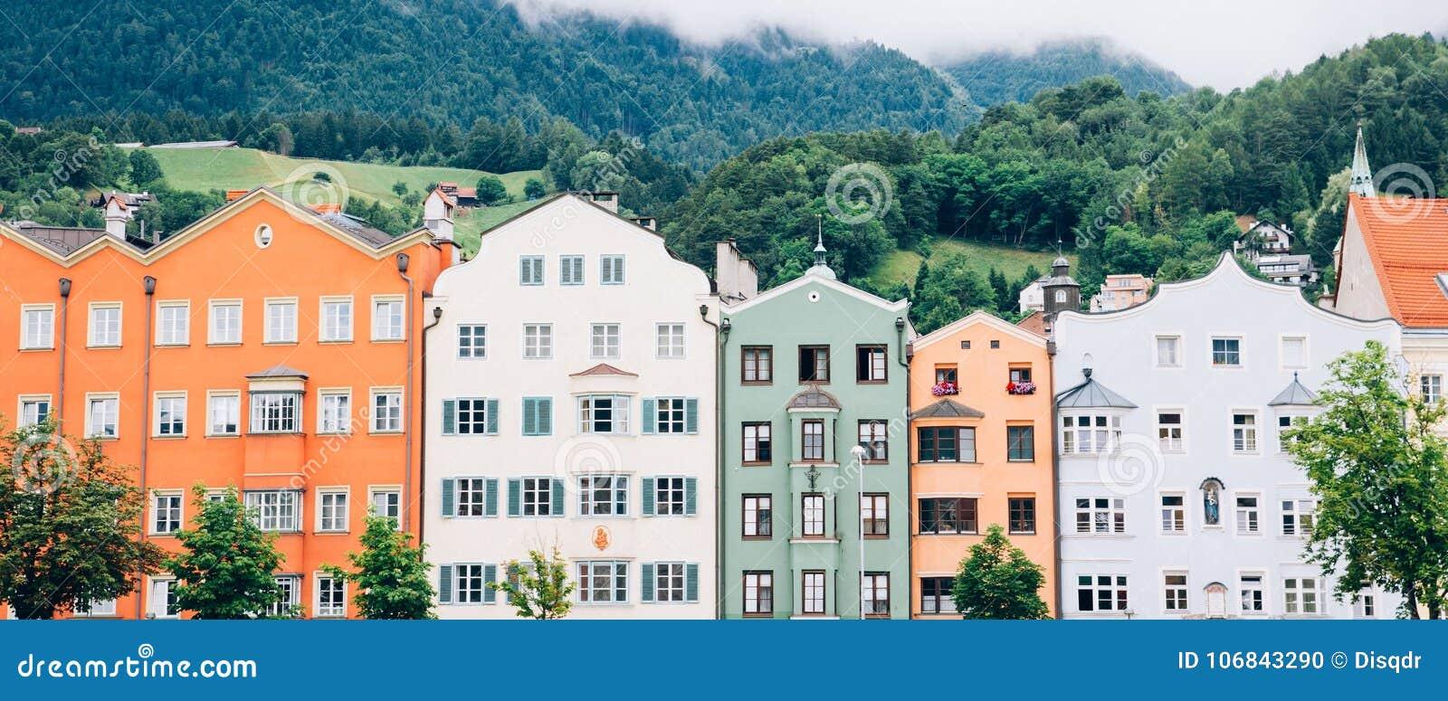 Arquitetura da cidade Áustria de Innsbruck