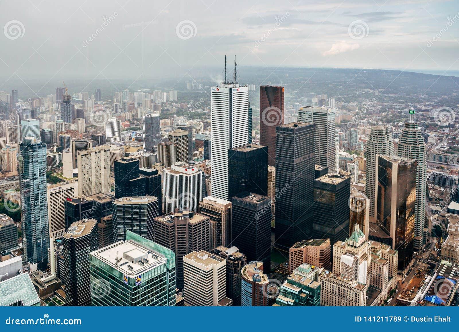 Arquitetura da cidade de Toronto da torre da NC