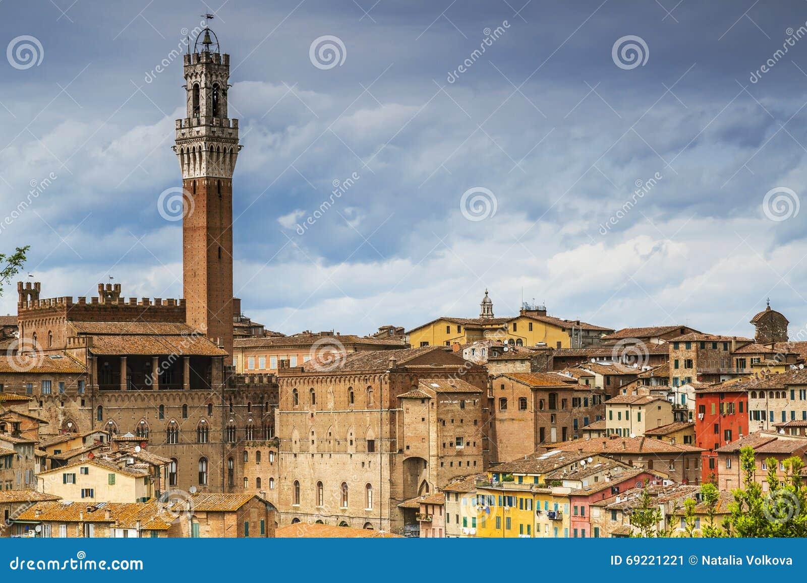 Arquitetura da cidade do Sienna, Itália