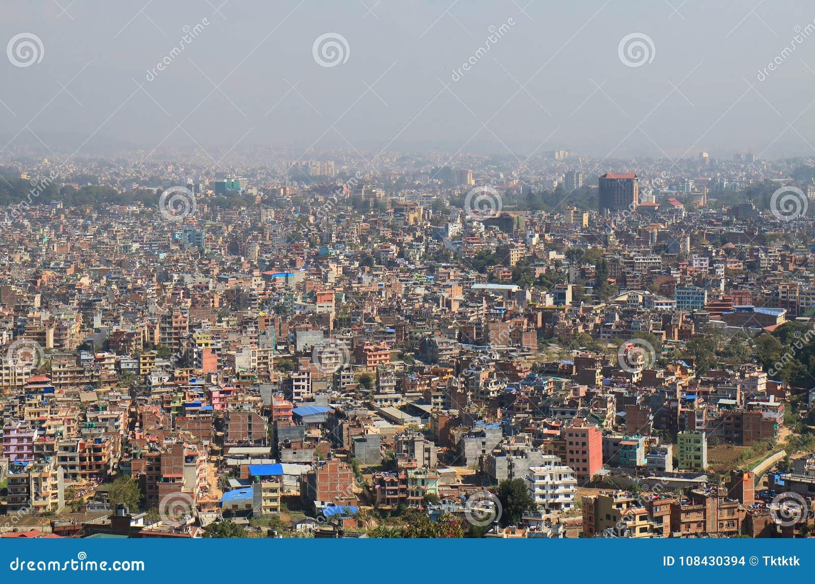 Arquitetura da cidade Nepal de Kathmandu