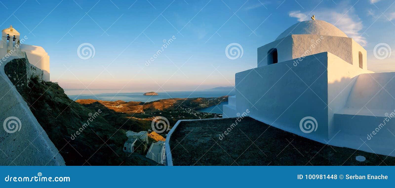 Arquitetura de Cyclades na ilha de Serifos