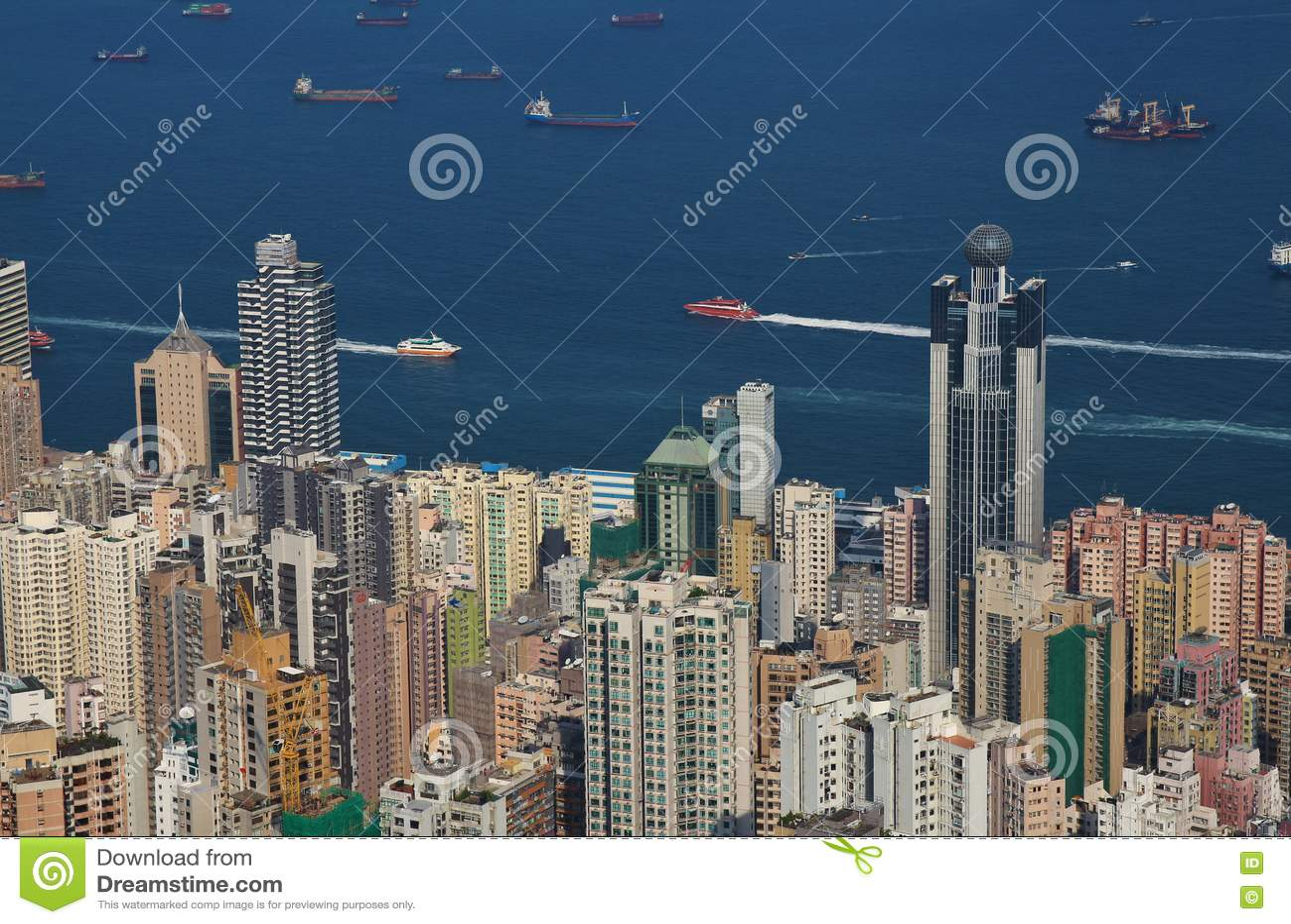 Arquitetura densa em Hong Kong