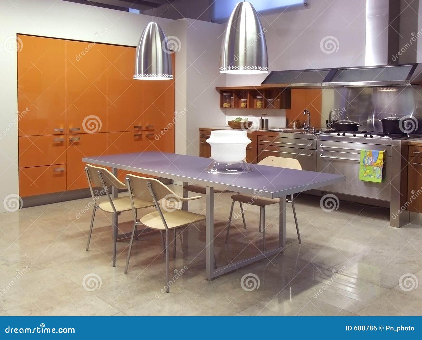 Mobília gama alta da sala de exposições da cozinha moderna bonita. #A55E26 1300 1065