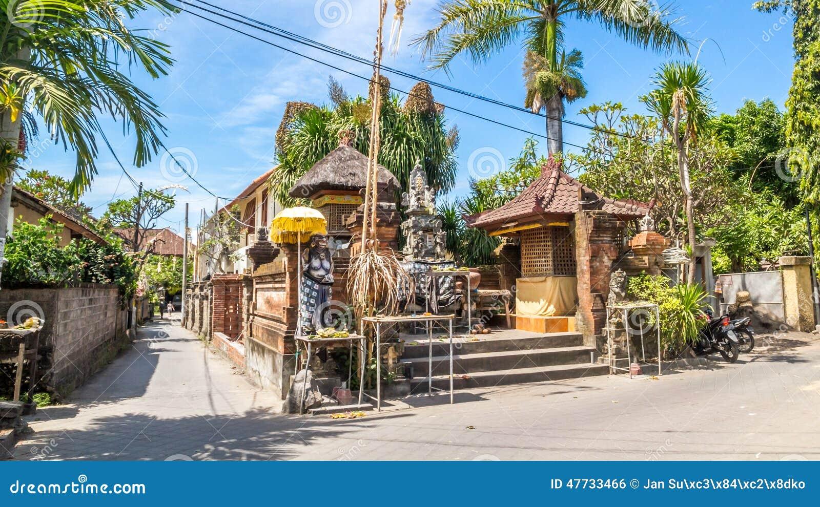 Arquitetura típica do balinese, casa no sanur