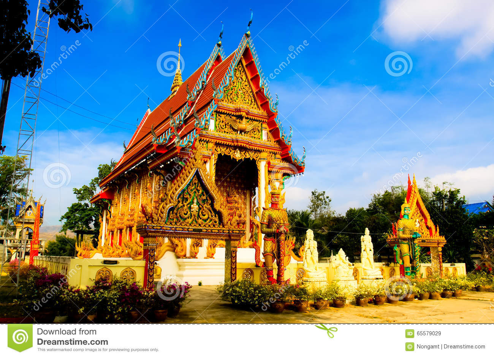 Arquitetura tailandesa do templo