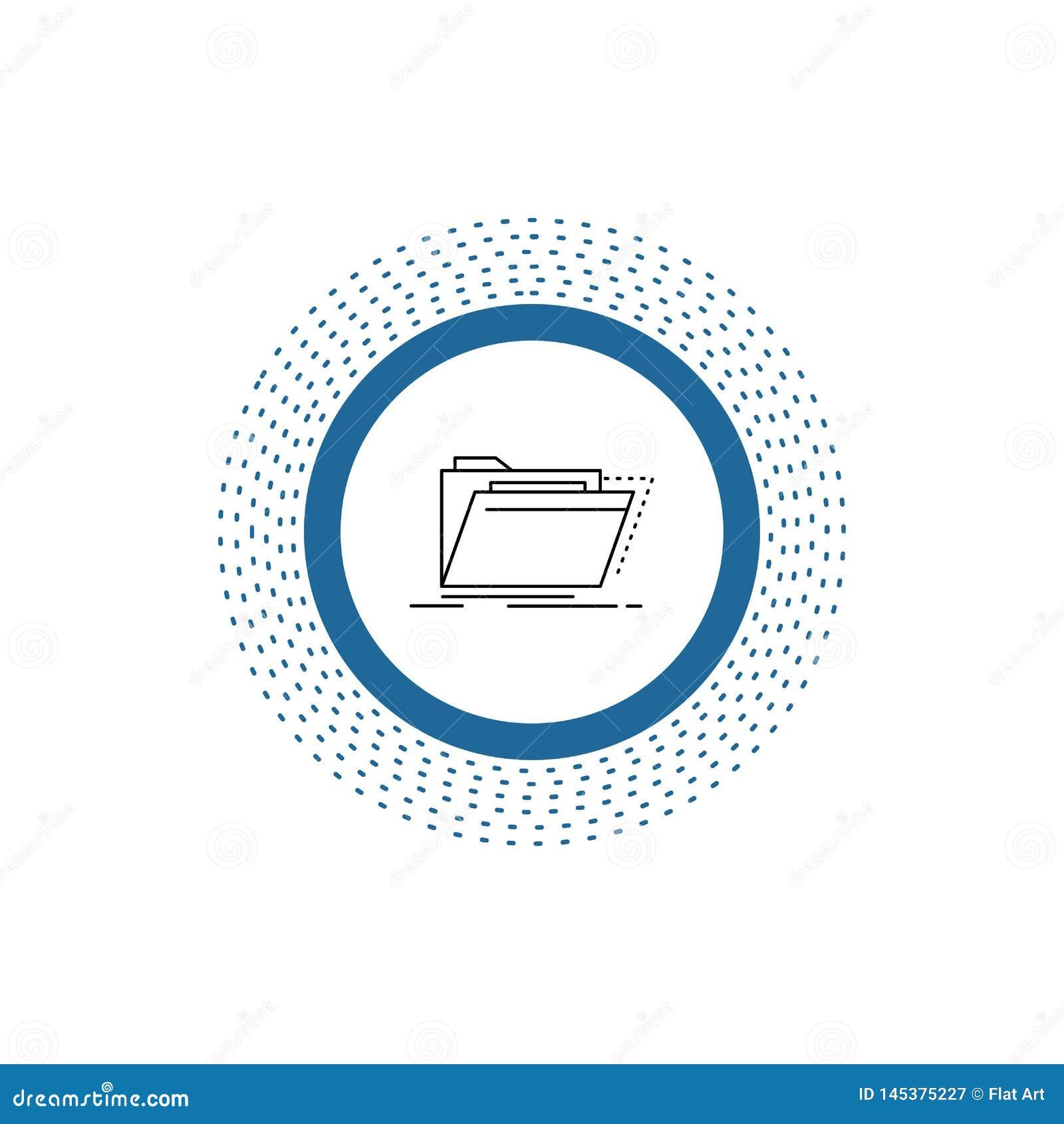 Arquivo, cat?logo, diret?rio, arquivos, linha ?cone do dobrador Ilustra??o isolada vetor