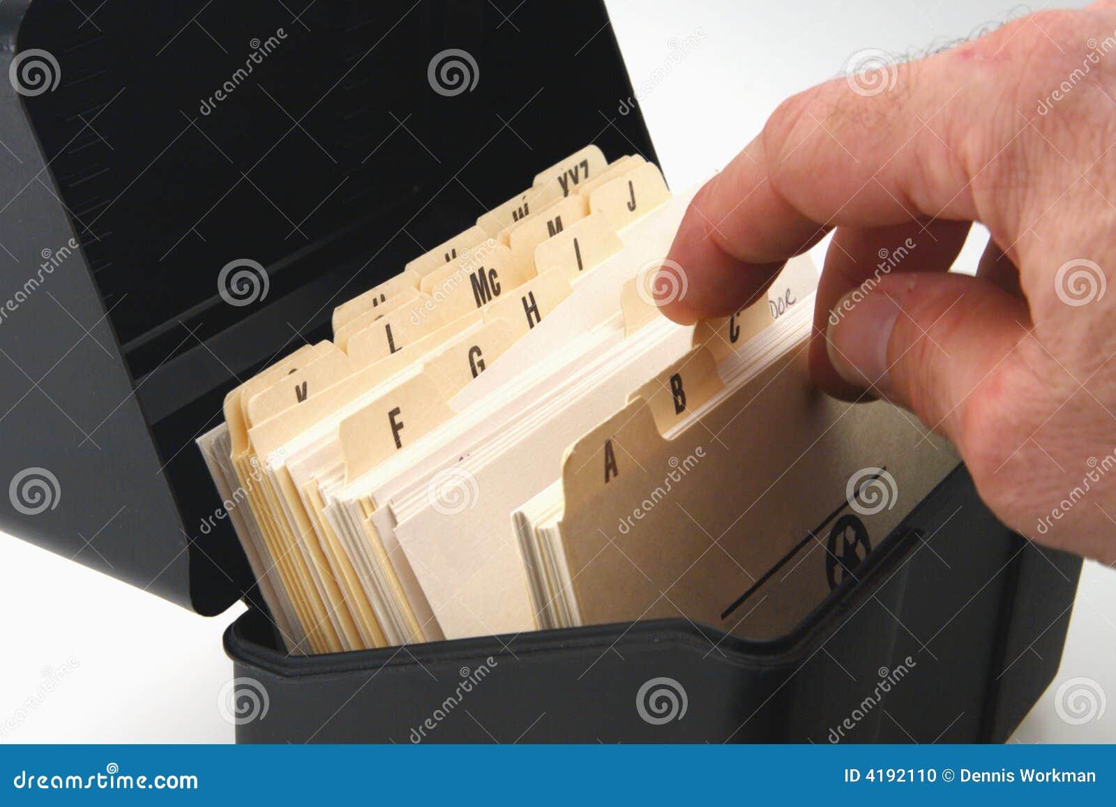 Arquivo de cartão