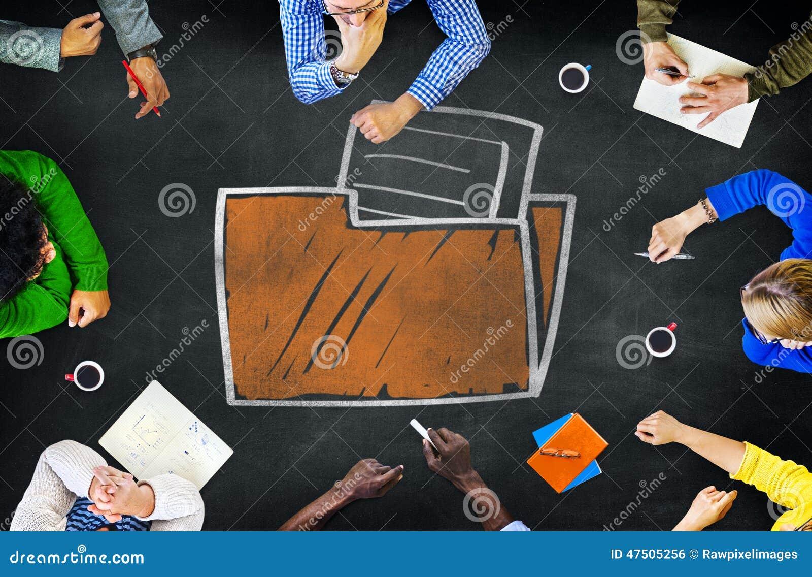 Arquivo do diretório do base de dados da informação do armazenamento do dobrador de arquivos concentrado