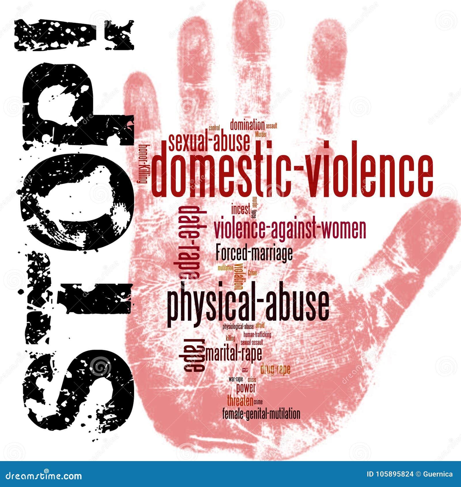 Arrêtez la violence familiale contre des femmes