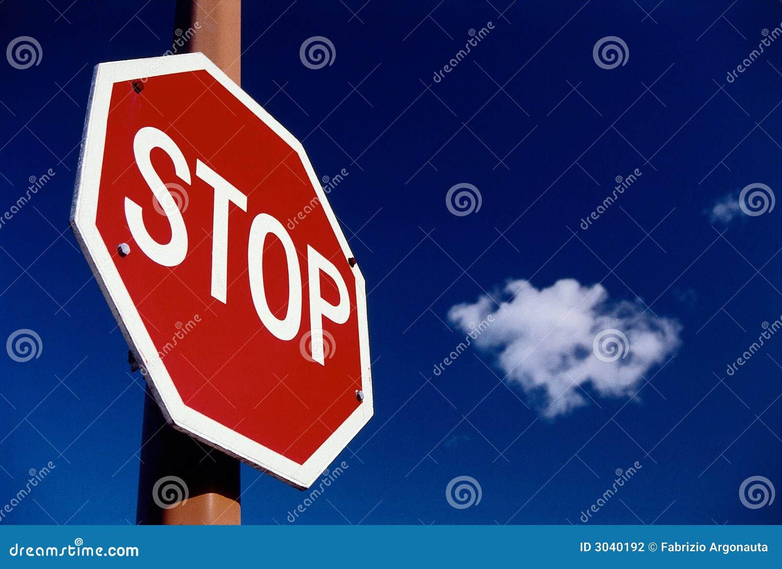 Arrêtez le signe