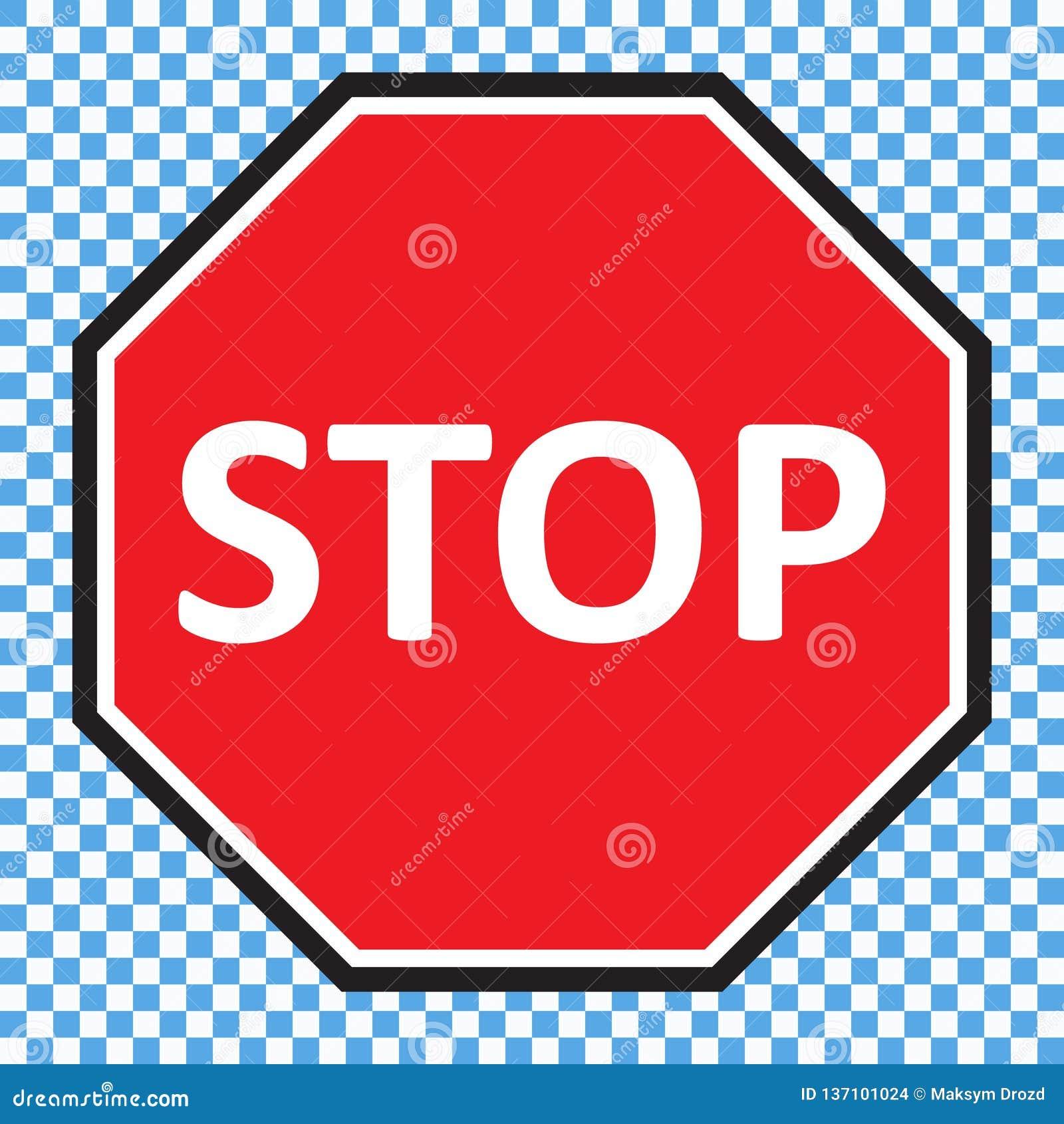 Arrêtez le vecteur de signe