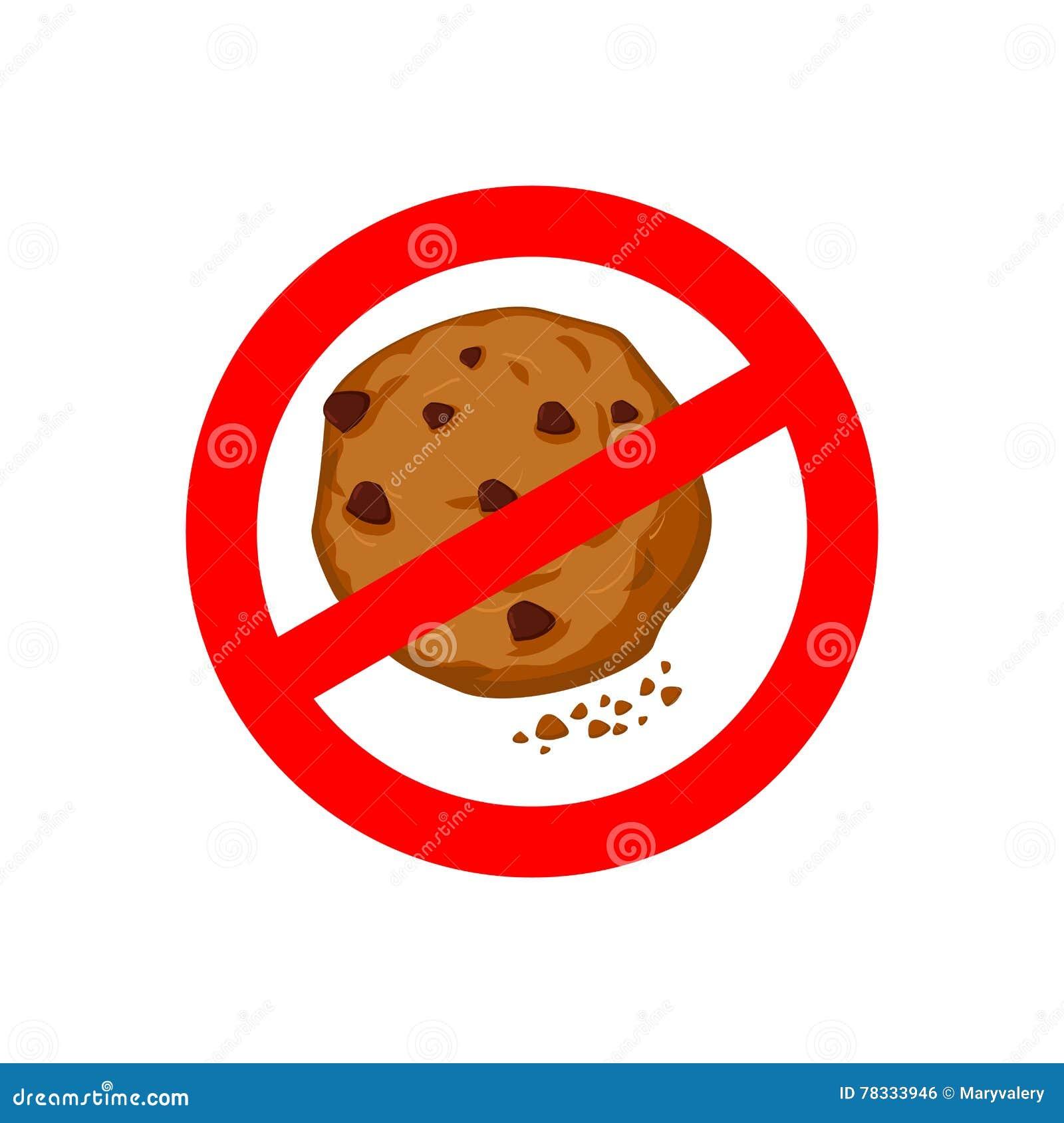 Arrêtez les biscuits On l interdit de manger des miettes Sig rouges d interdiction