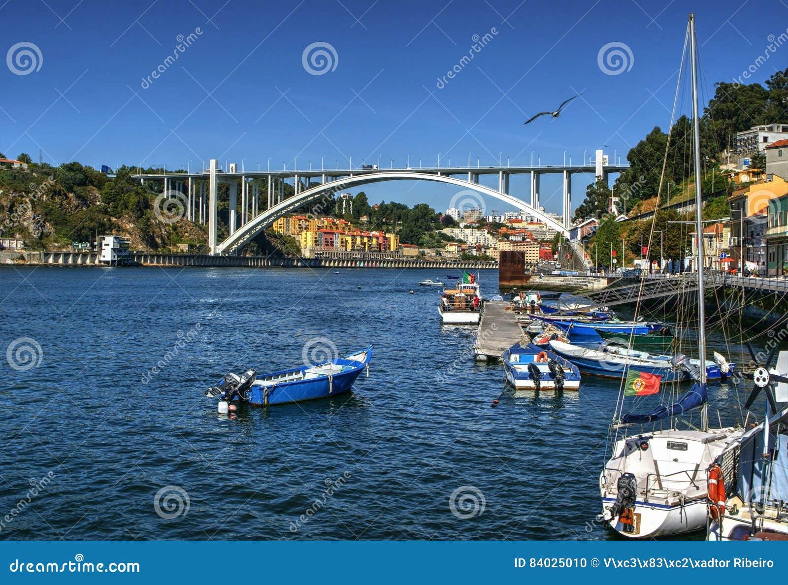 Arrabida bridge of Douro river in Porto