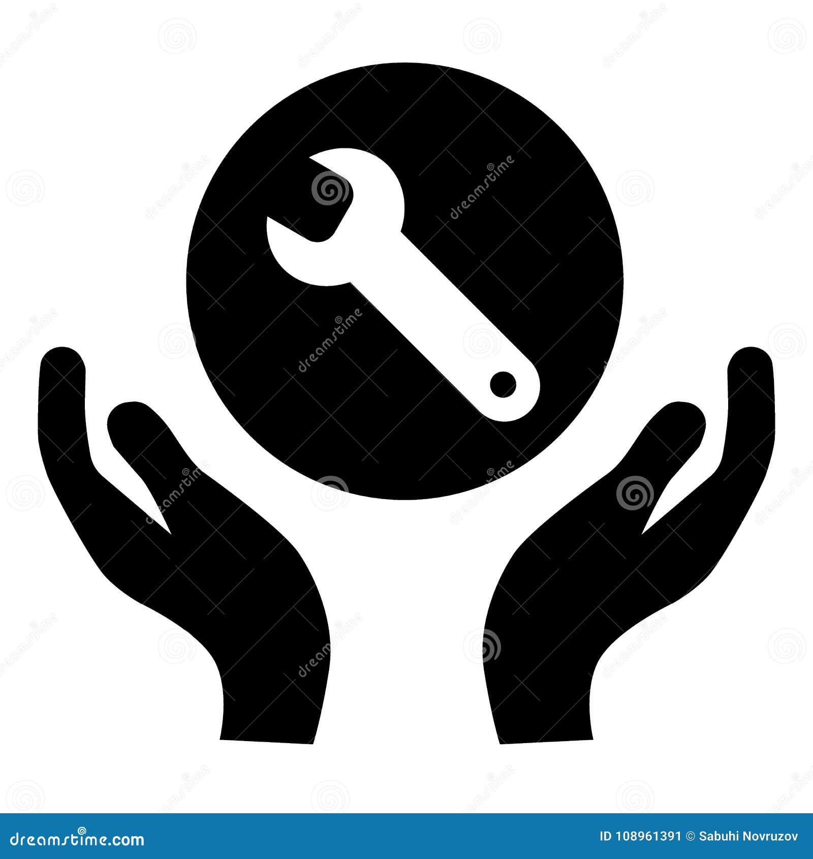 Arrachez dans la canne à pêche icône Support technique Service des réparations Illustration solide simple plate d isolement sur l