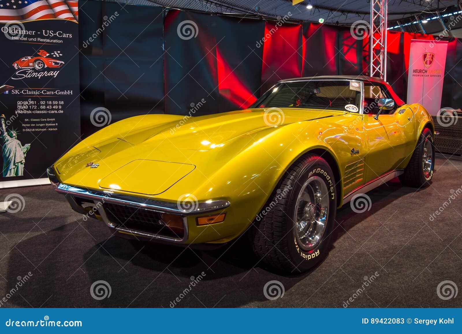 Arraia-lixa C3 de Chevrolet Corvette do carro de esportes