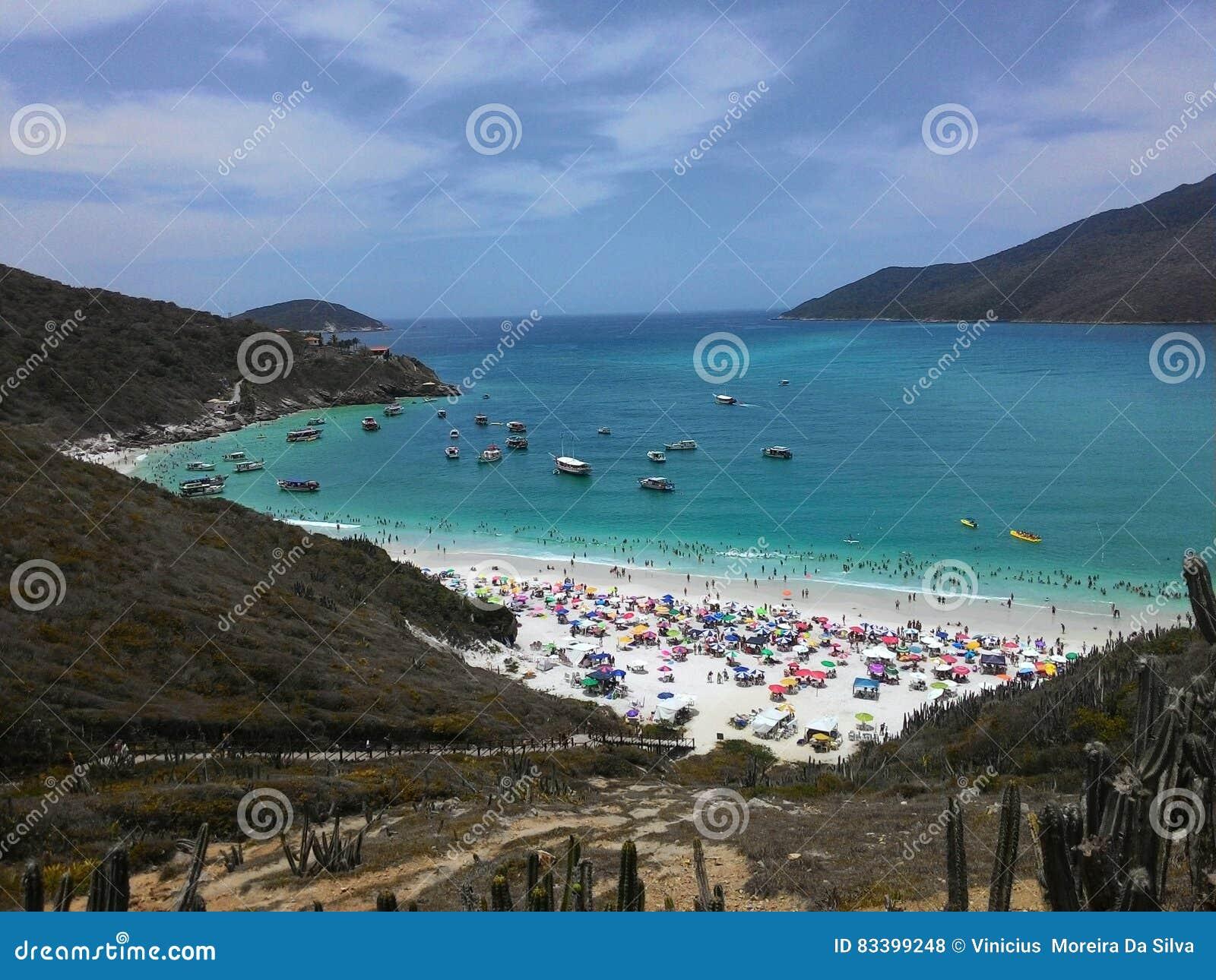 Arraial robi Cabo plaży w Rio De Janeiro lecie