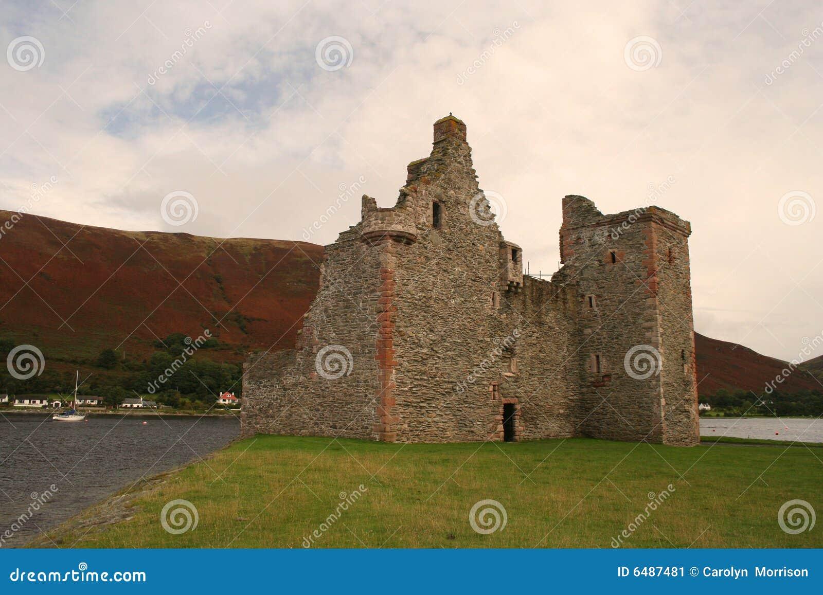 Arran城堡小岛lochranza