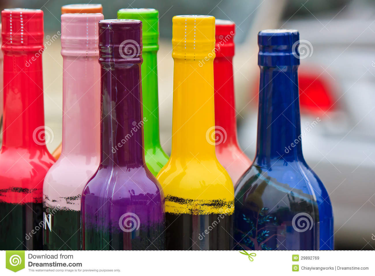 Color bottles royalty free stock images image 29892769 for Where to buy colored wine bottles