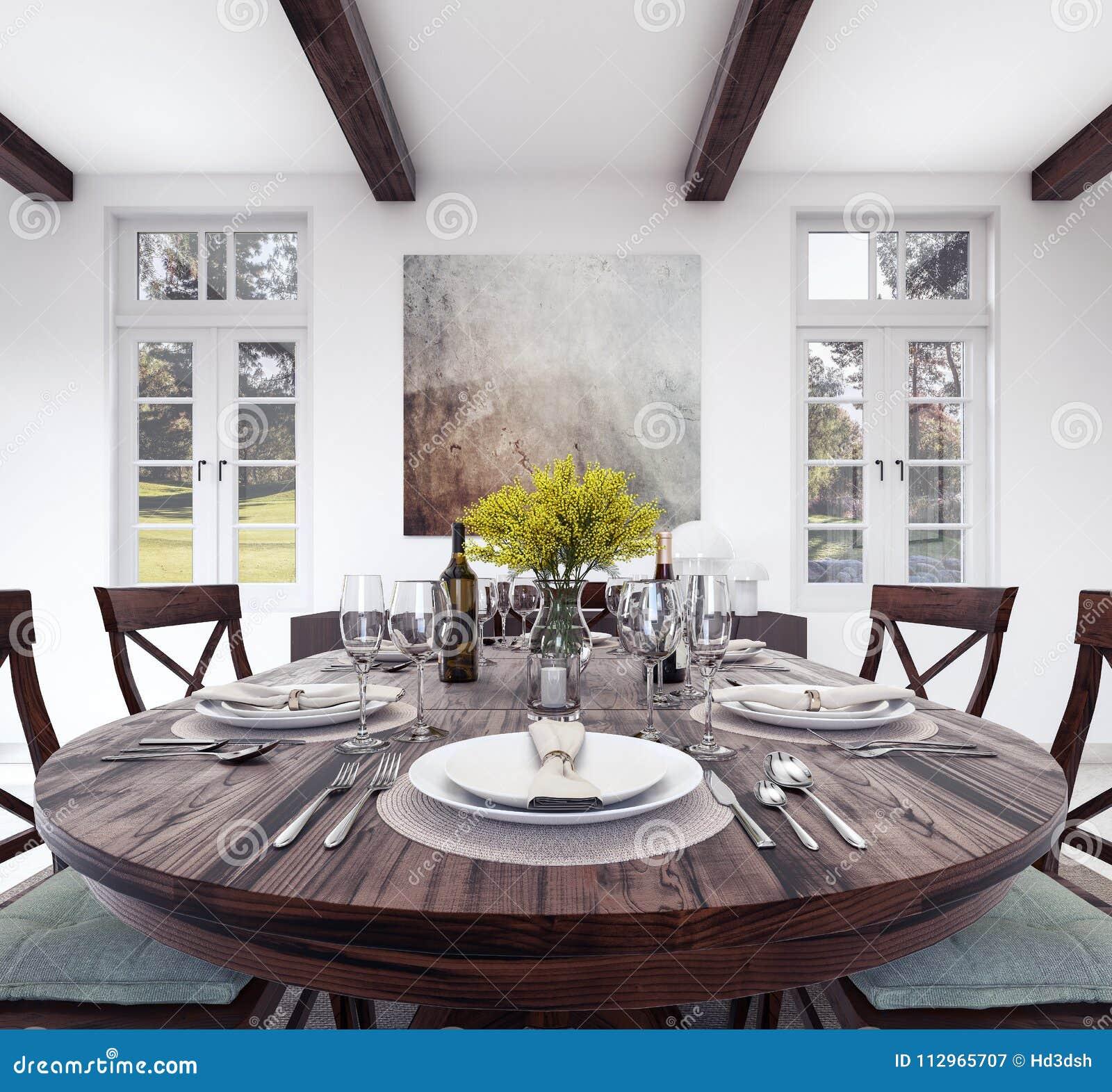Arrangement de table de dîner de cuisine