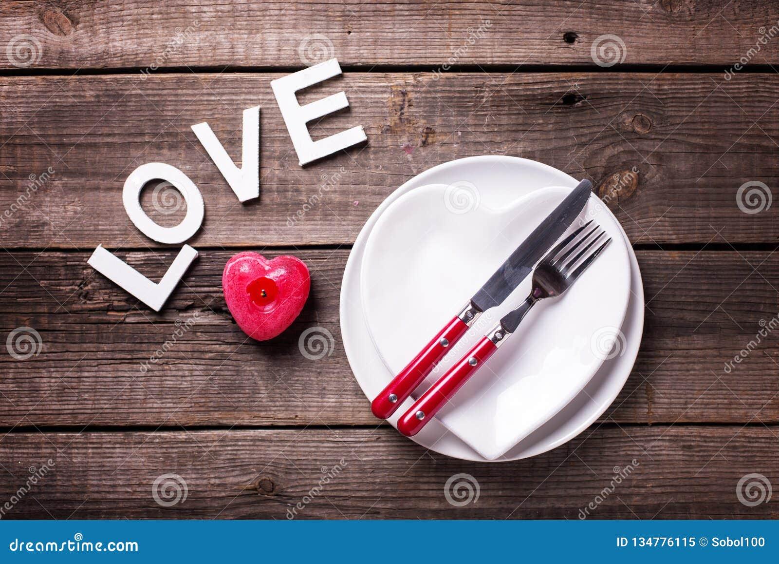 Arrangement de table de St Valentine Day