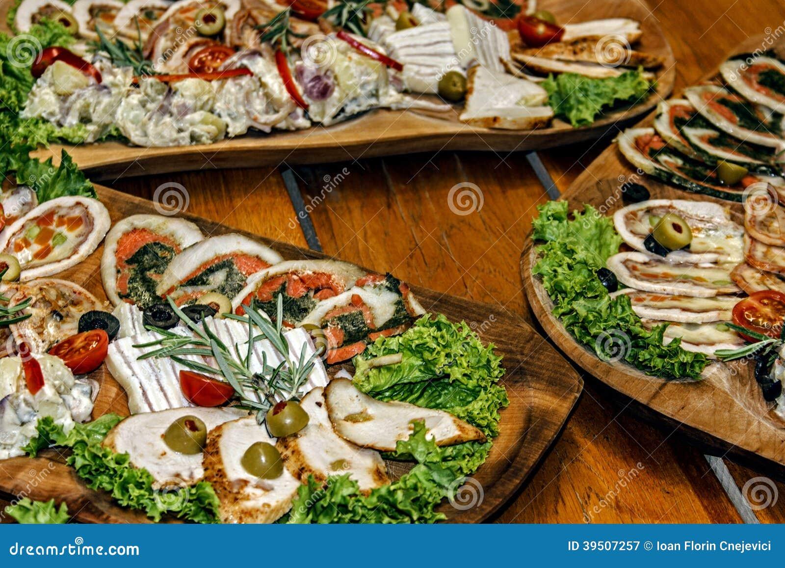 Arrangement of food 50