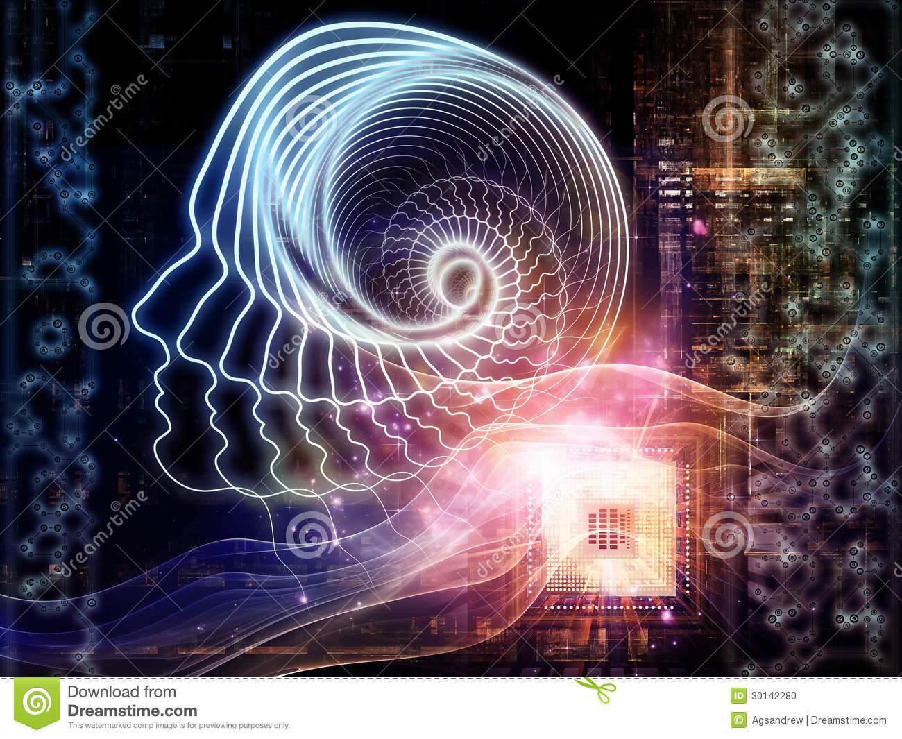 Emergence Of Artificial Intelligence Stock Photo - Image ...