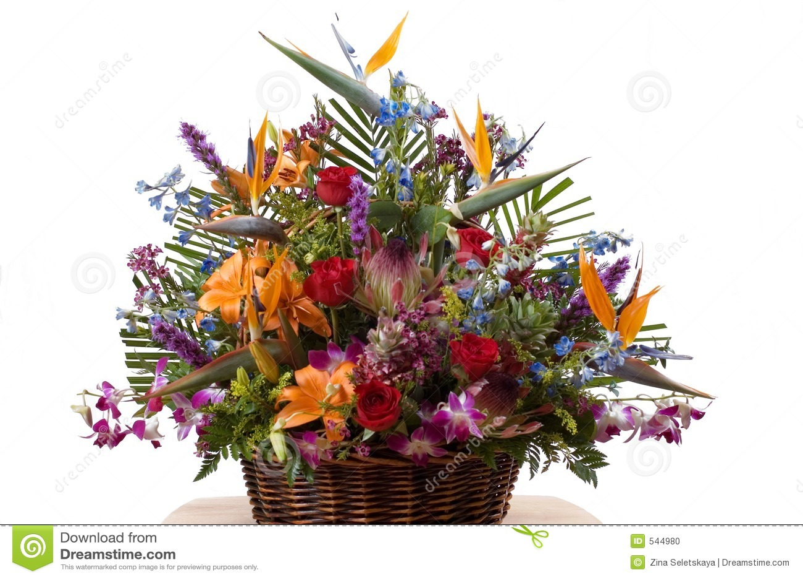Arrangment exótico das flores
