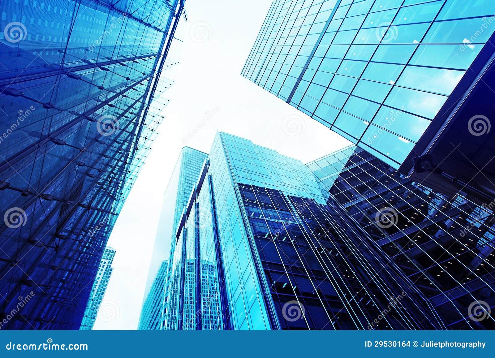 Arranha-céus de vidro modernos