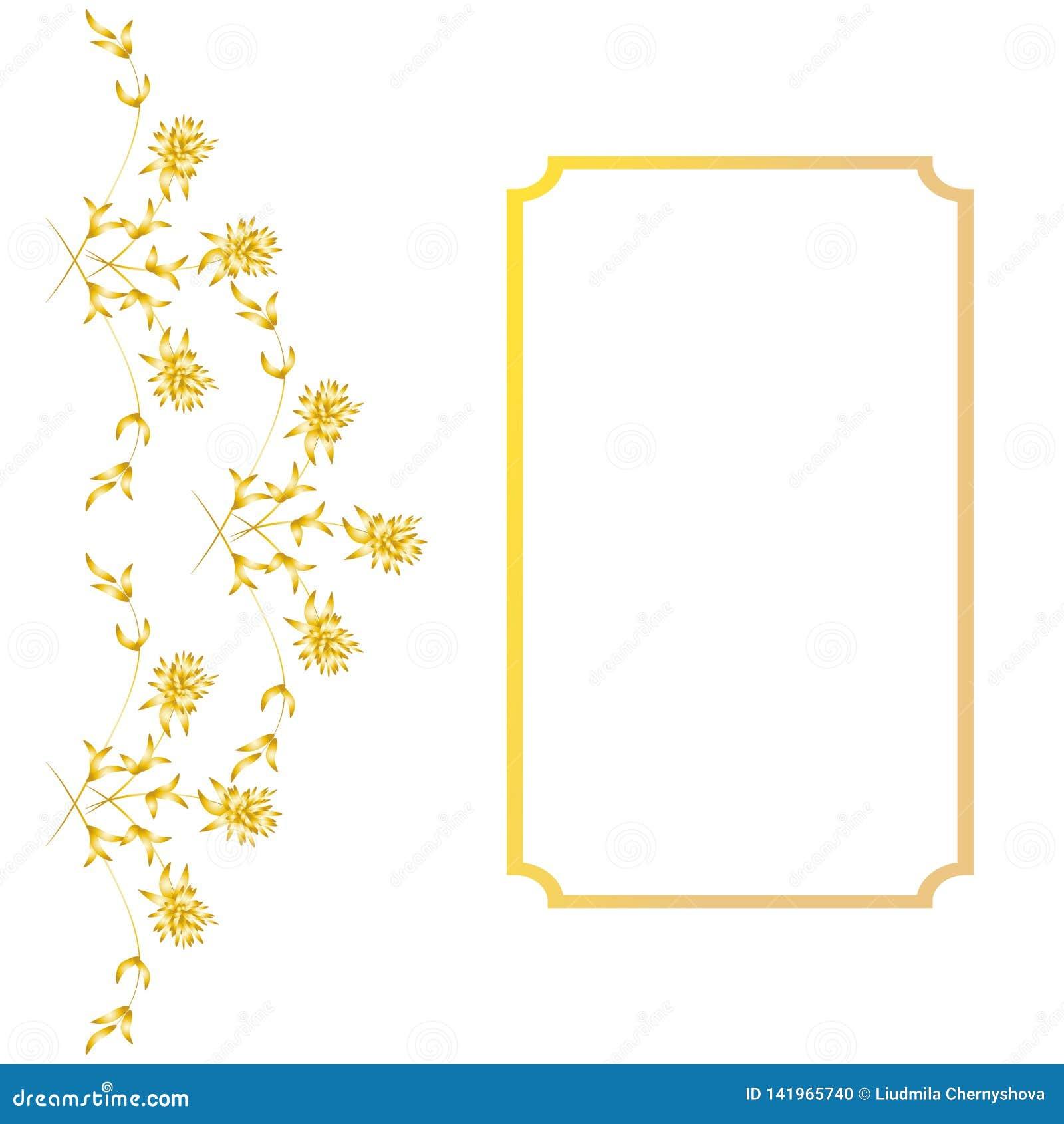 Arranjo Das Ervas E Das Flores Quadro Retangular Da Arte Para O