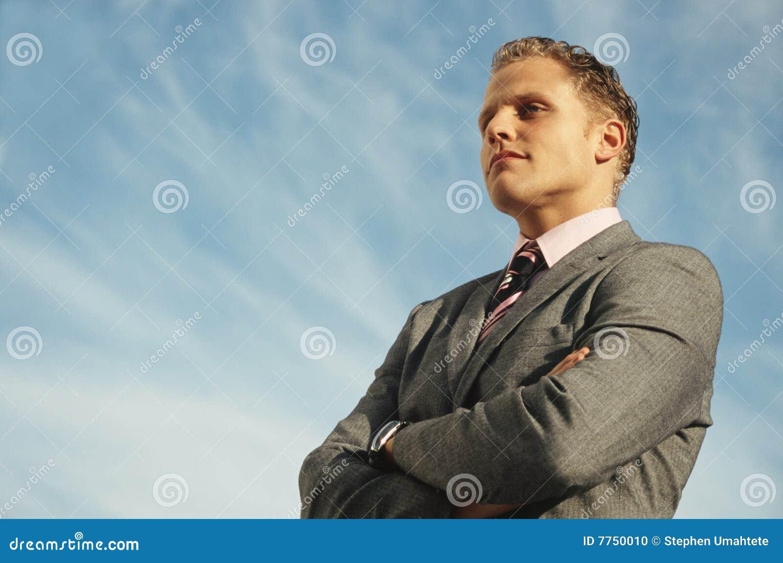 Arranque de cinta del hombre de negocios