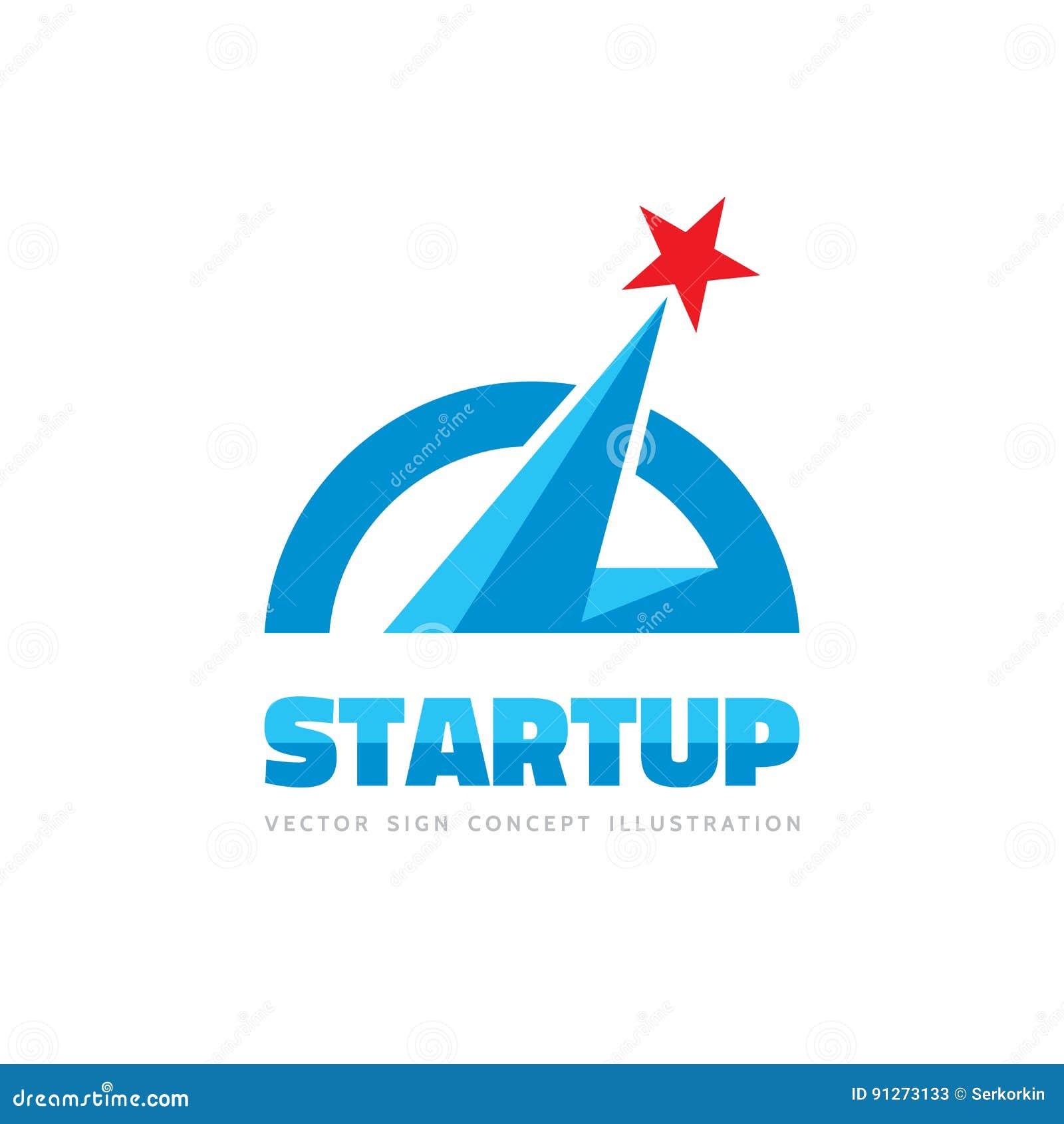 Arranque - Ejemplo Del Concepto De La Plantilla Del Logotipo Del ...