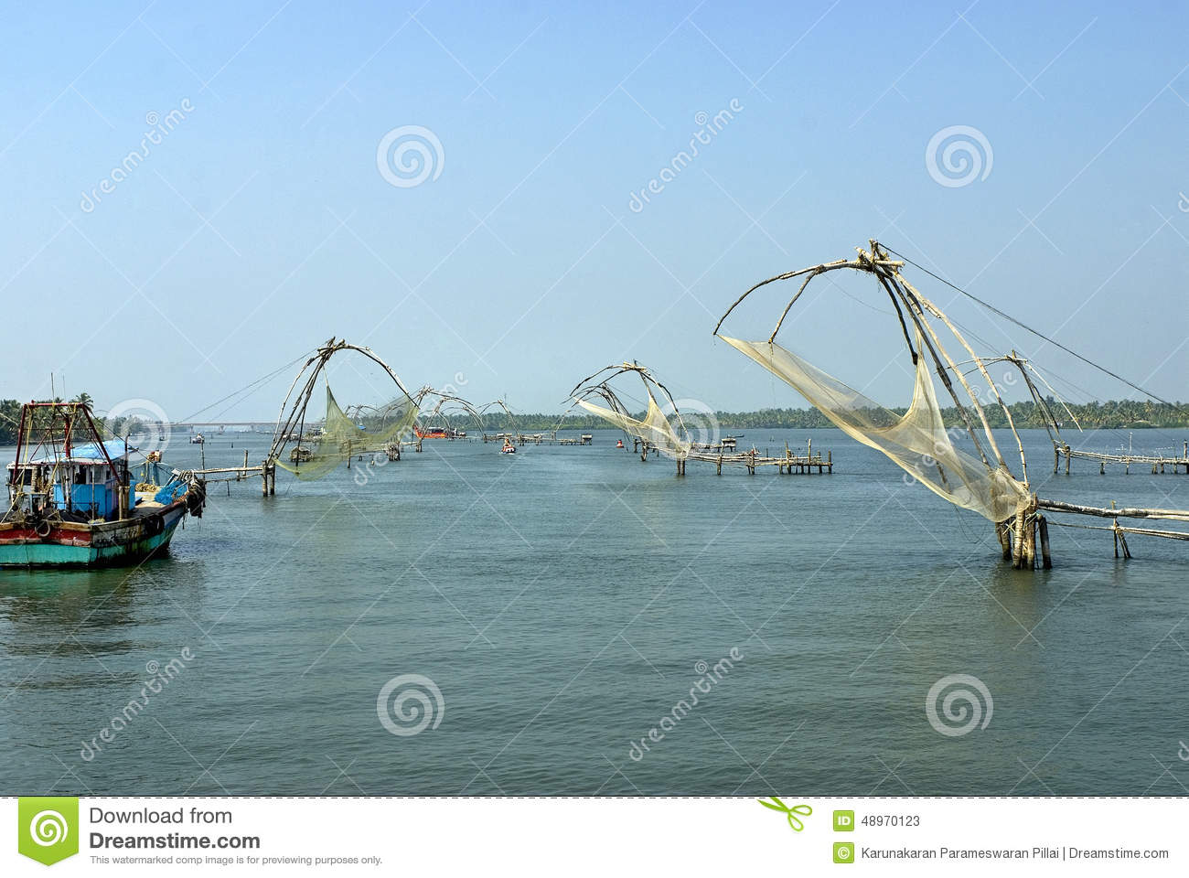 Array of fishing nets chinese type stock photo image for Types of fishing nets