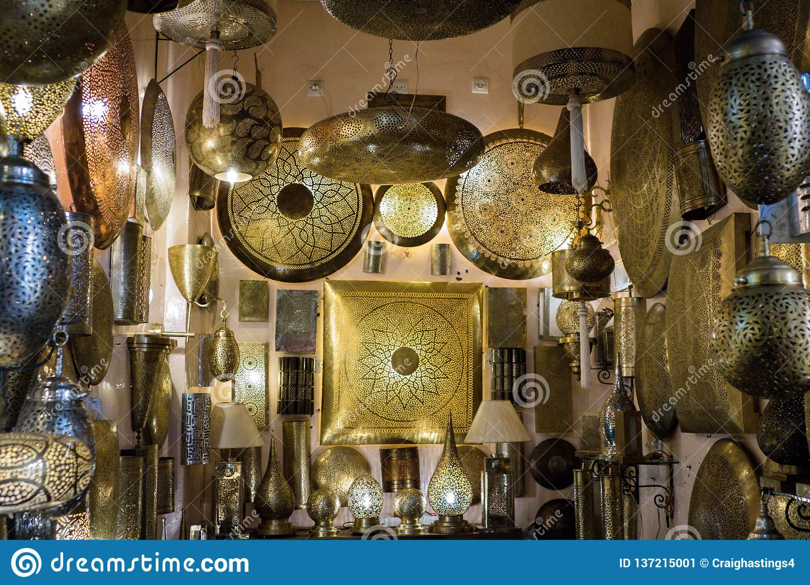 Selection Of Luxury Lamps For Sale In The Market Square Souq