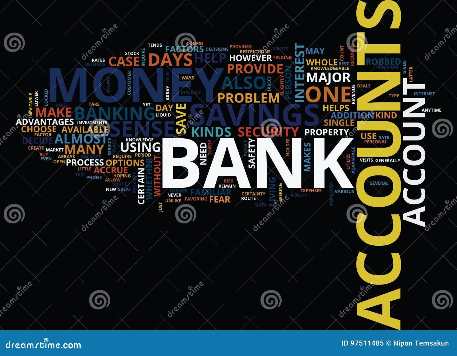 Arrays Of Bank Accounts Word Cloud Concept
