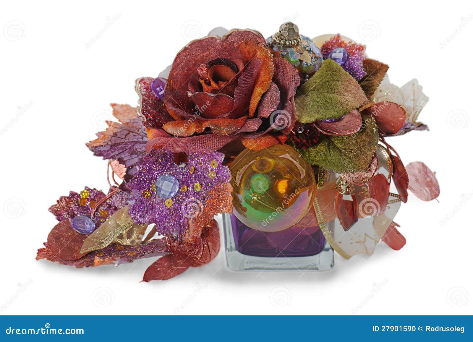 flores artificiales de navidad: