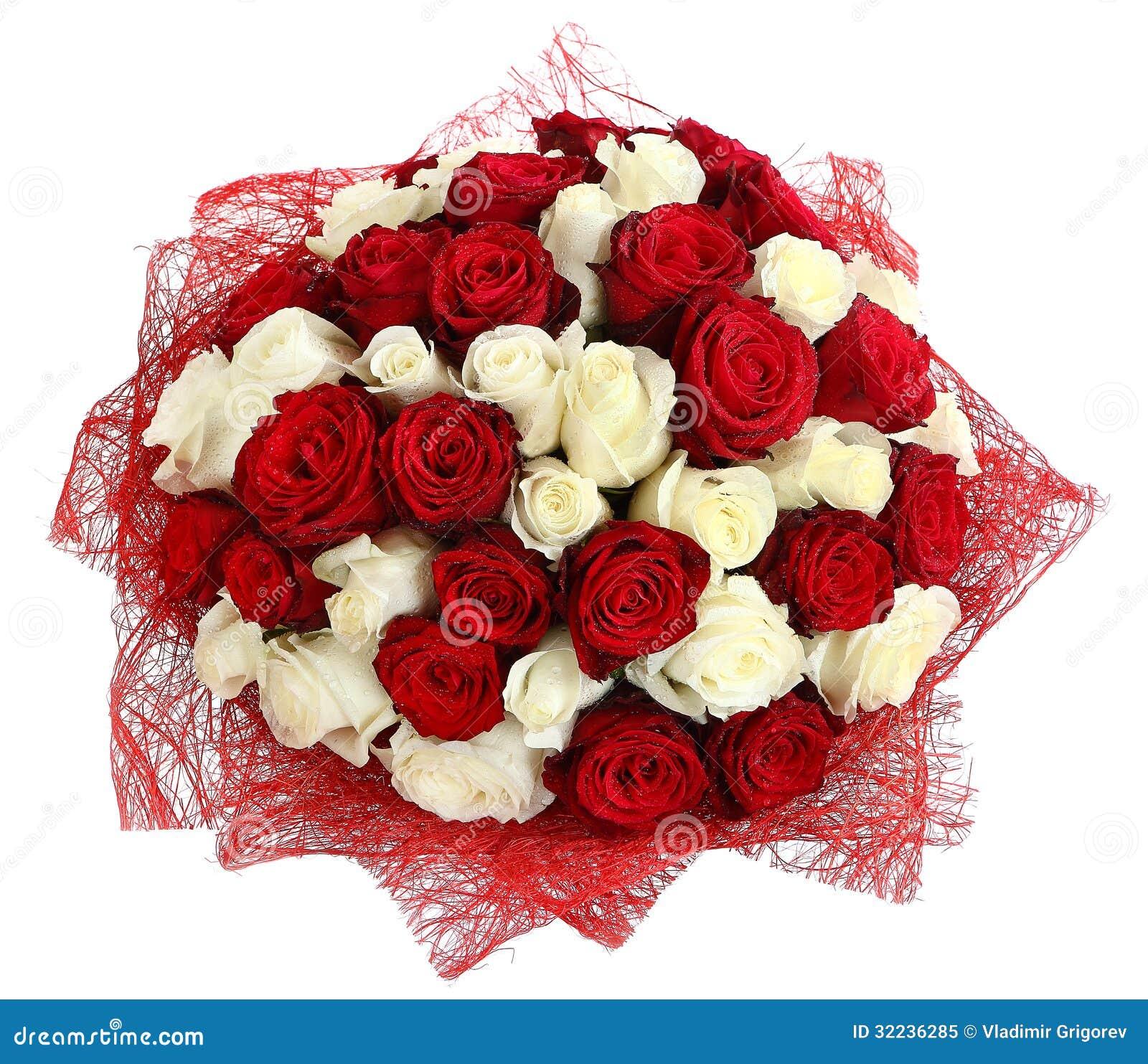 Arreglo Floristico De Las Rosas Blancas Y Rojas Arreglo