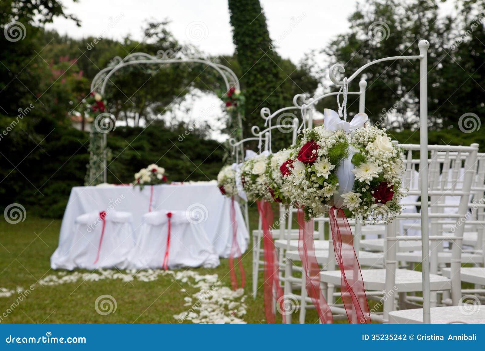 Arreglos Florales Para Casarse Foto De Archivo Imagen De