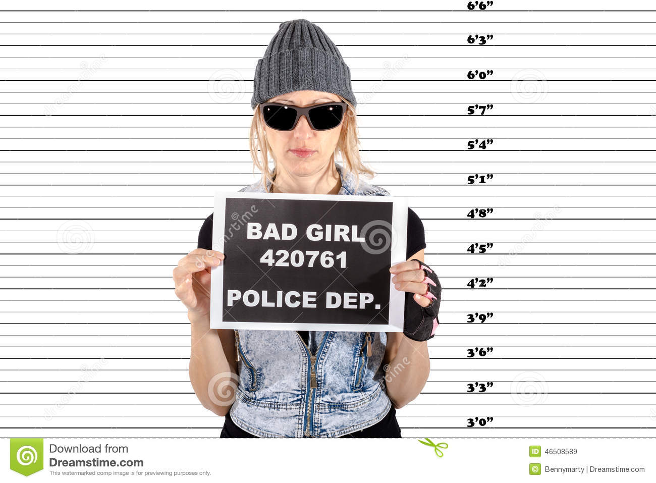 Arrested Woman Stock Photo Image 46508589