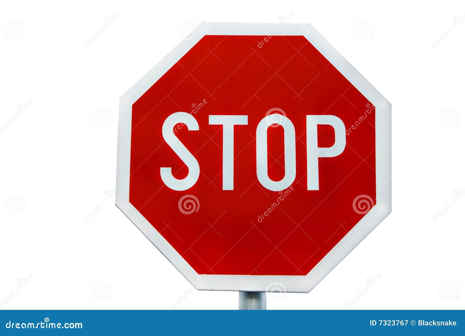 Arresti il segnale stradale
