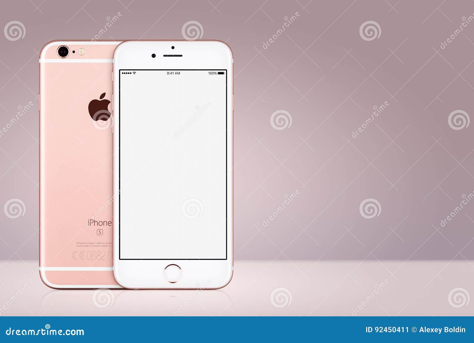 Arrière Avant Et De Maquette De L Iphone 7 De Rose Gold