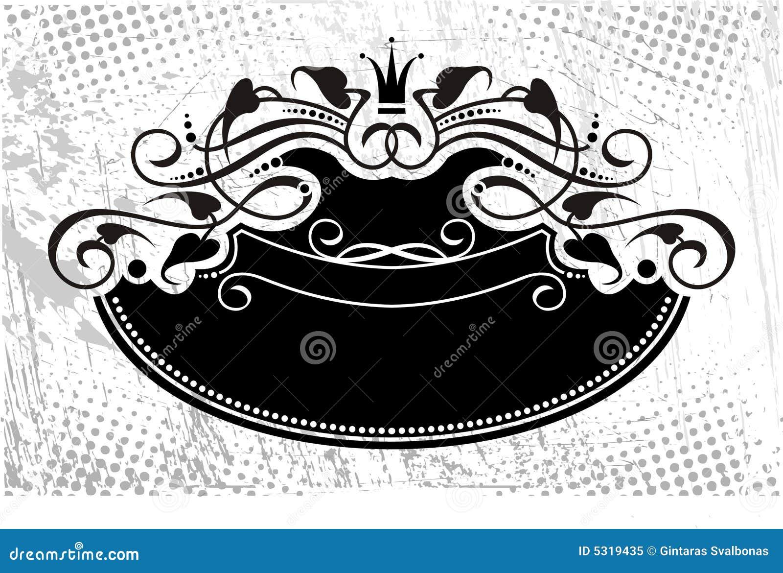 Download Arricciature Floreali Con La Parte Superiore Qui Sopra Illustrazione Vettoriale - Illustrazione di mano, etichetta: 5319435