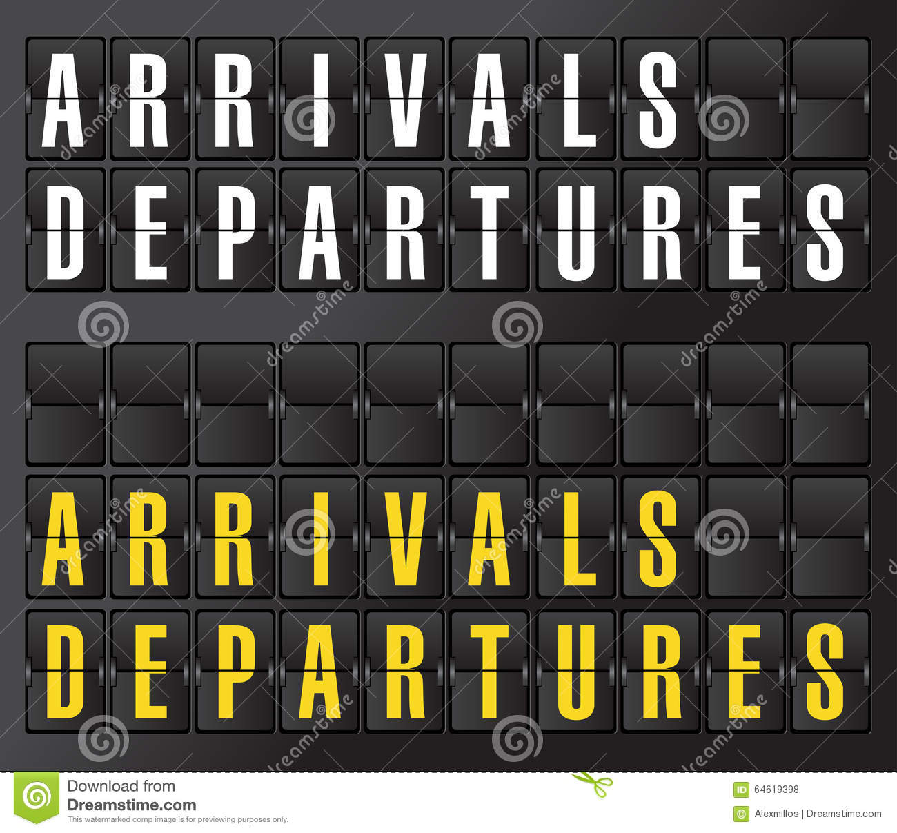 Arrival and departures airport signs in spanish stock - Felpudo arrivals departures ...