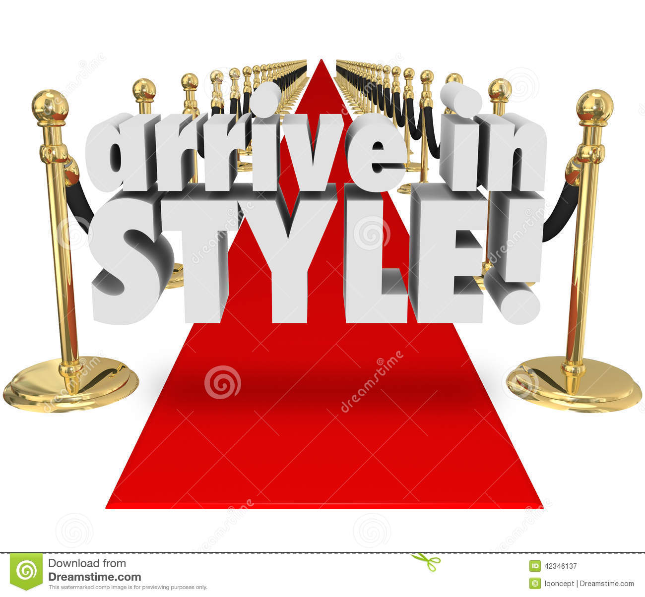 3d Red Carpet And Velvet Ropes Royalty Free Stock Photo 41740731