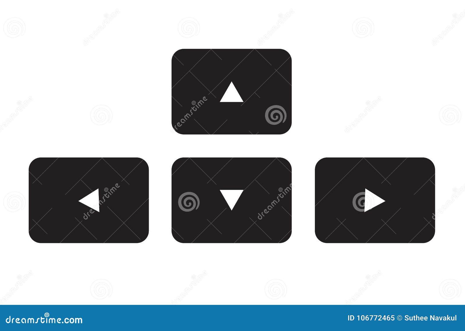 Arrow Button Keyboard Icon On White Background Stock Illustration