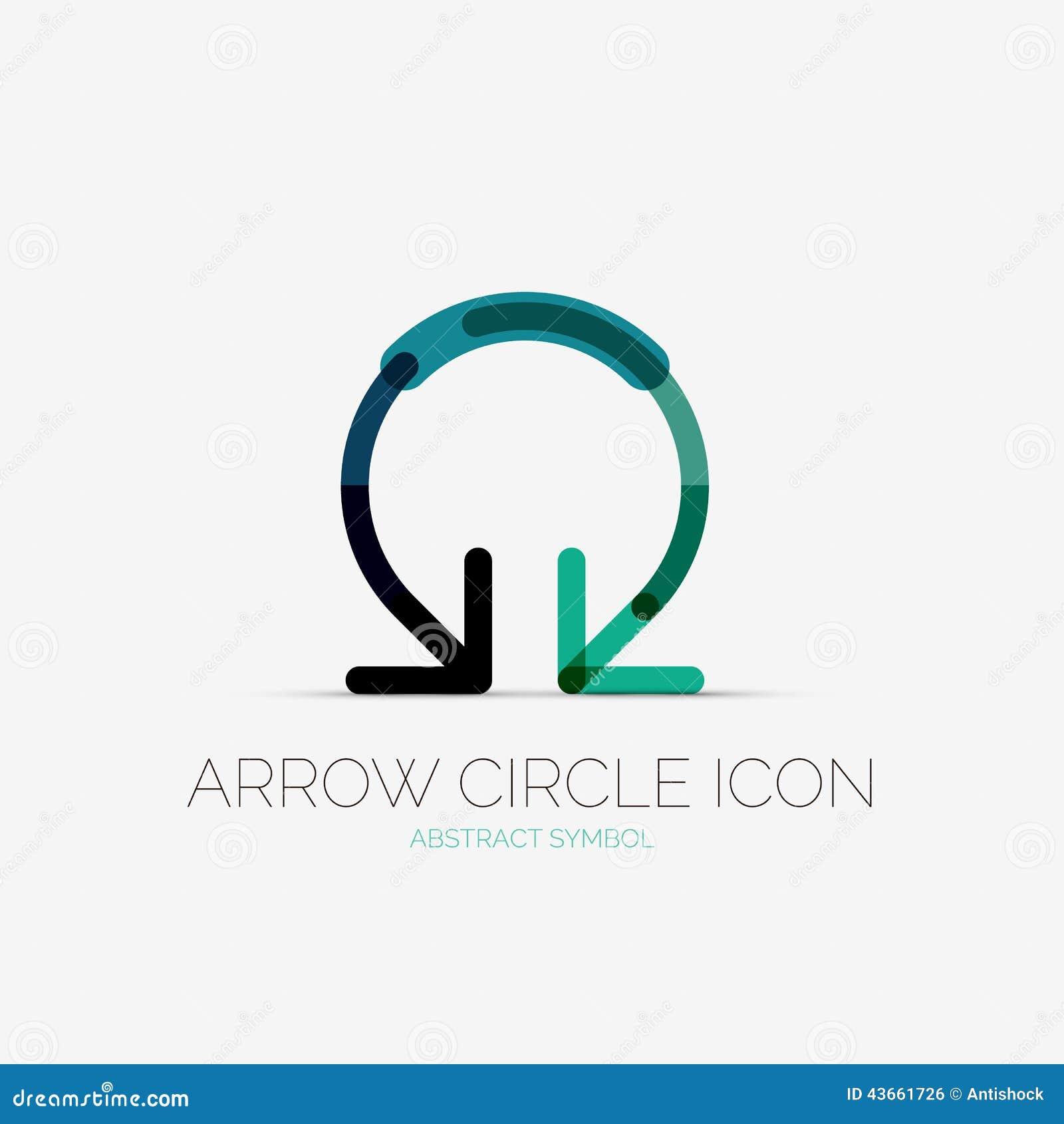 Arrow Circle Icon Company Logo, Business Concept Stock