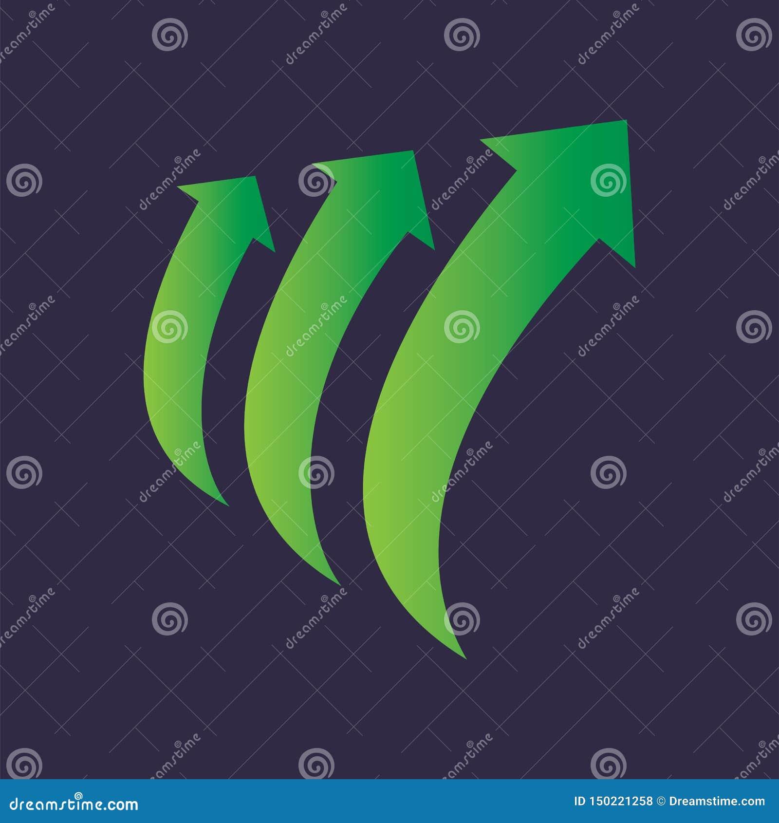 Arrow Cycle Step Up Logo Vector