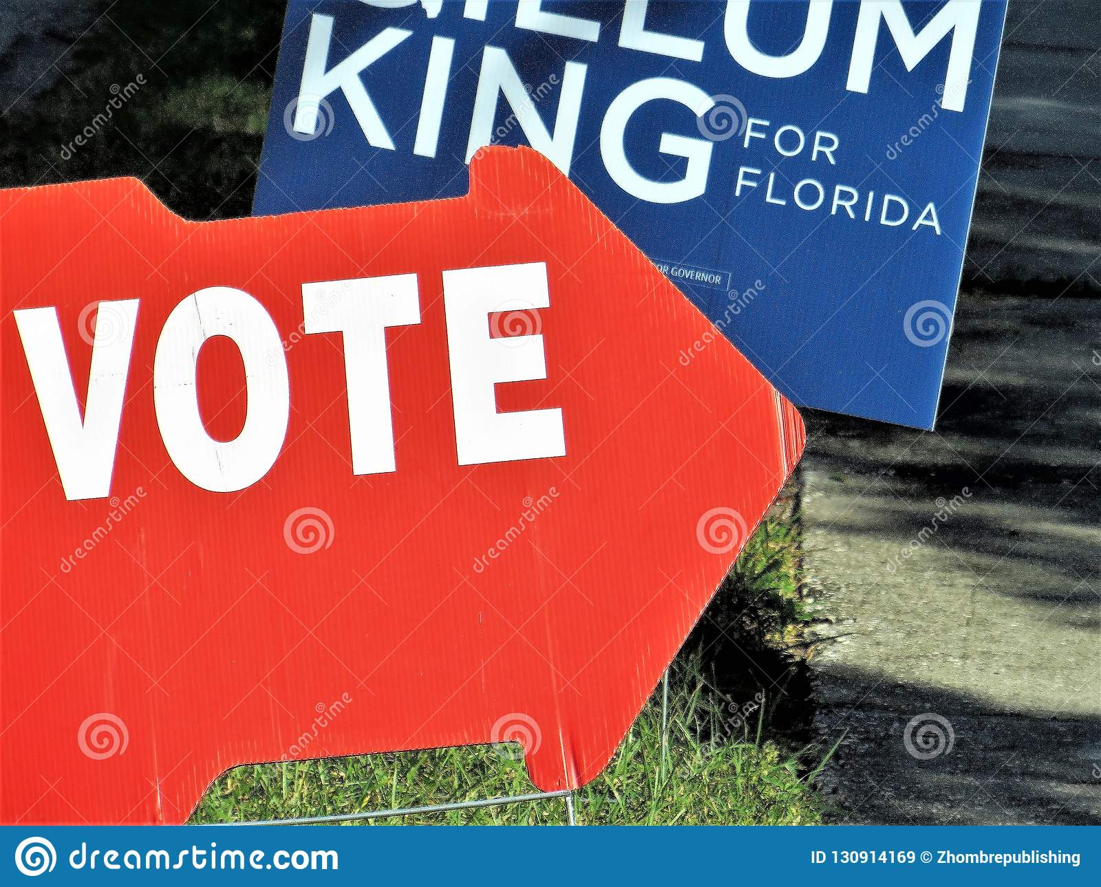 Vote sign, Florida