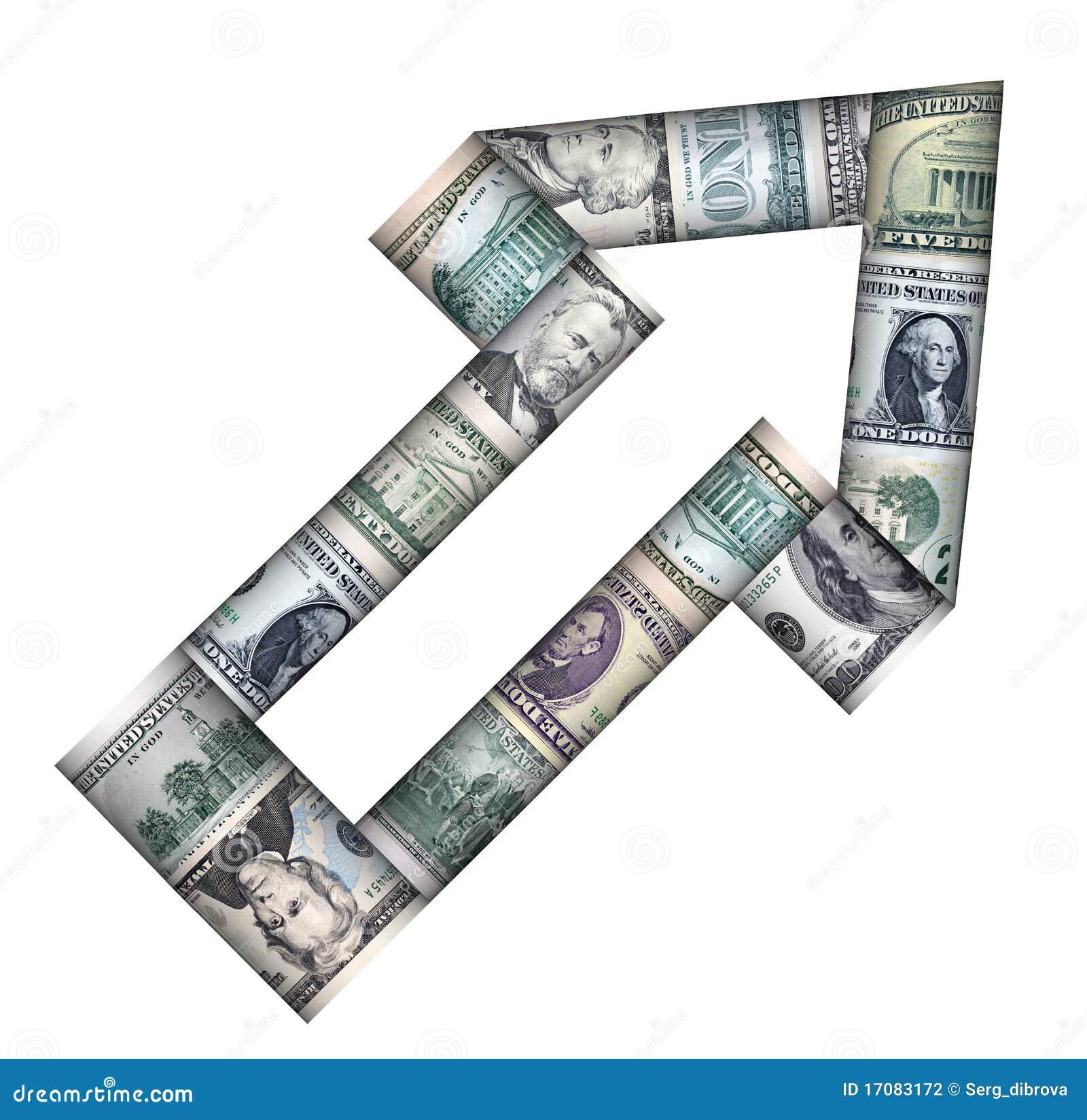 Arrow from the dollars